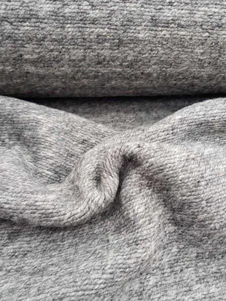 Stoff Wolle Mantelstoff grau