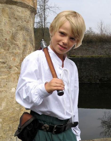 Mittelalterhemd weiß Kinder