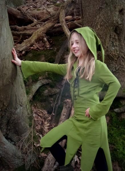 Kinder Elfenkleid olivgrün