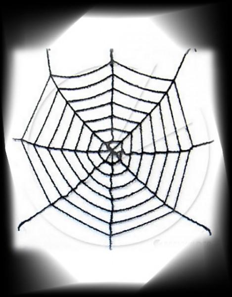 Riesen Spinnennetz mit Glitter 1,80cm