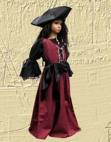 Piratin Kinderkostüm 4-teilig