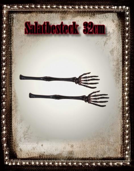 Grusel Salatbesteck 2 Skeletthände