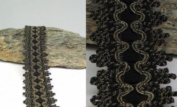 Borte schwarz gothic 40mm