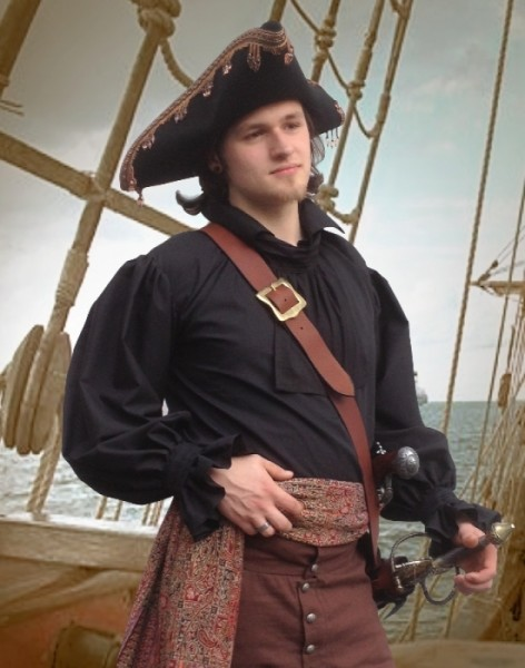 Piratenhemd Soldatenhemd BW in versch. Farben