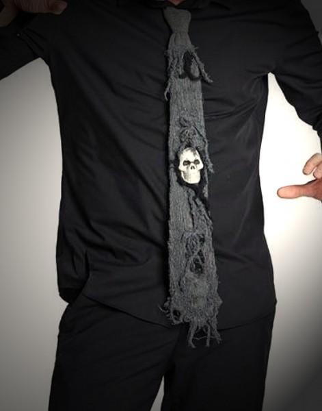 Zombie Kravatte grau
