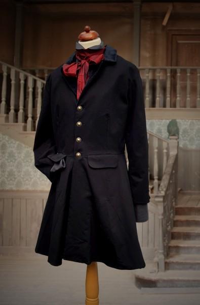 Biedermeier Mantel schwarz