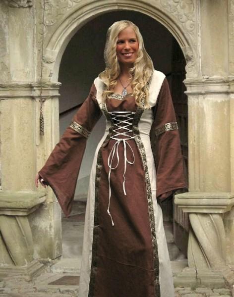 Kleid Aurora mit Kapuze