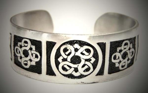 Armreif keltisch silber-schwarz