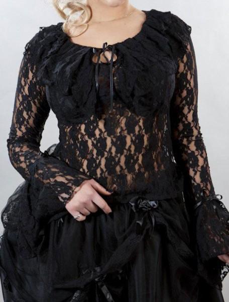 schwarze sexy Bluse