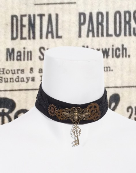 Halsband Libelle Steampunk