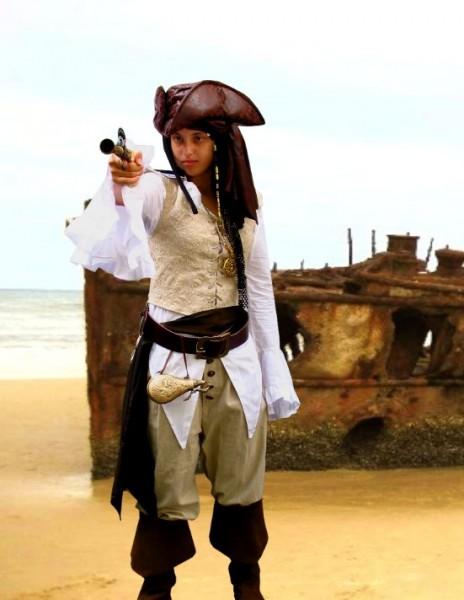 Plünderin Piratin 2-teiliges Gewand