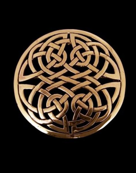 Fibel Brosche groß bronze